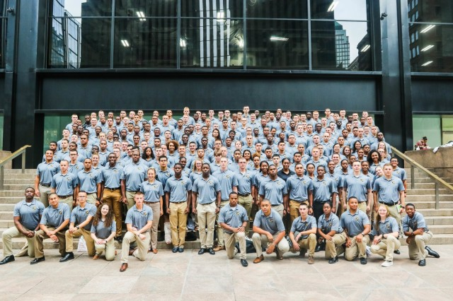 U.S. Military Academy Preparatory School Cadet Candidates made their annual visit to the 9/11 museum and memorial Sept. 10, 2019  to mark the anniversary of the terrorist attacks. (U.S. Army photo by Brandon O'Connor)