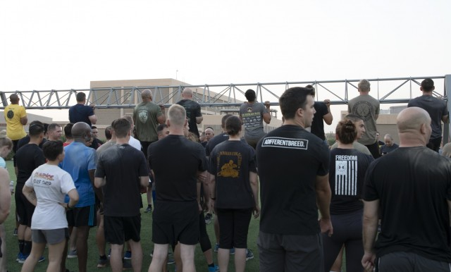XVIII Airborne Celebrates 75 years with Morning PT