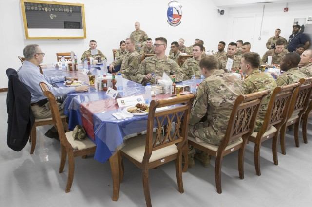 American Ambassador to Kuwait Visits Soldiers at Camp Buehring