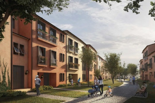 A concept design for housing at U.S. Army Garrison Italy