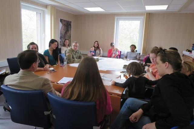 A housing focus group meets at U.S. Army Garrison Rheinland-Pfalz-Baumholder.