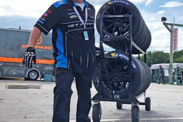 Master Sgt. Scott Paul gets prepared for the 2019 Virginia Raceway motorsport race on August 22-25, 2019. (Photo courtesy U.S. Army Master Sgt. Scott Paul)