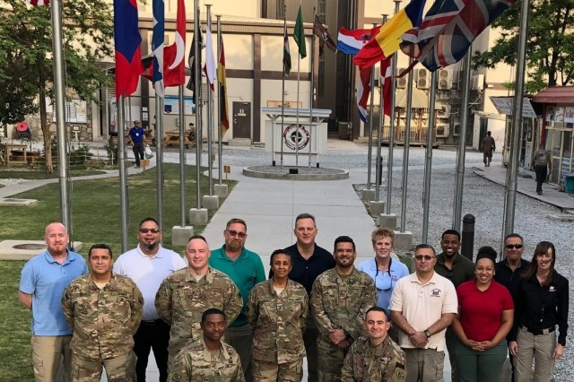 USACE team members stand proud and tall to be serving in Afghanistan on the 18th remembrance of 9/11.