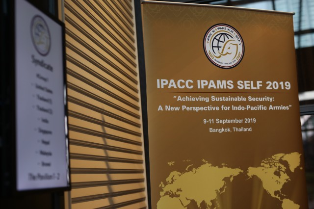 Senior enlisted leaders representing 20 countries from around the Indo-Pacific region participate in the Senior Enlisted Leadership Forum held in Bangkok Thailand 9-11 September 2019. IPACC/IPAMS/SELF are a series of Department of the Army and U.S. Army Pacific forums to build interpersonal relationships and foster multilateralism, dialogue, and cooperation for regional approaches to contemporary security challenges in the Indo-Pacific.