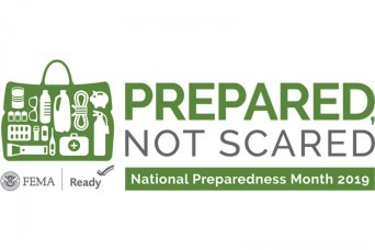 September is National Preparedness Month: Be Prepared, Not Scared