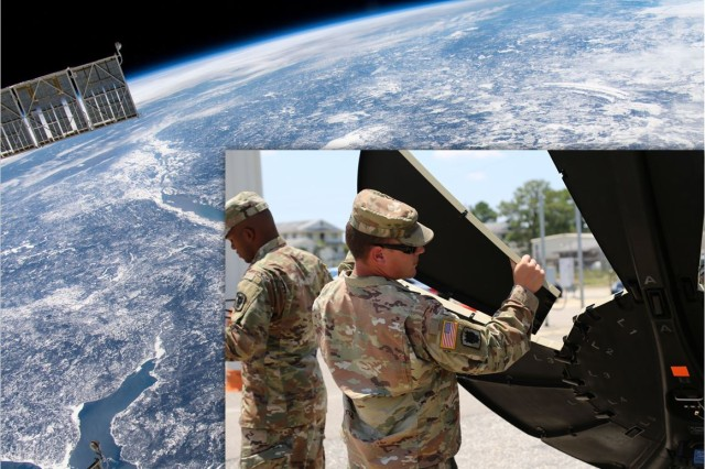 The Army fielded the 50th Expeditionary Signal Battalion-Enhanced (ESB-E) pilot unit with the first high-throughput Phoenix E-Model ground satellite terminal prototypes, which are designed to more effectively support large division and corps headquarters. In the photo, Soldiers from the 50th Expeditionary Signal Battalion-Enhanced (ESB-E) pilot unit dismantle the transit case-based Phoenix E-Model prototype satellite terminal at Fort Bragg, North Carolina, on July 30, 2019.