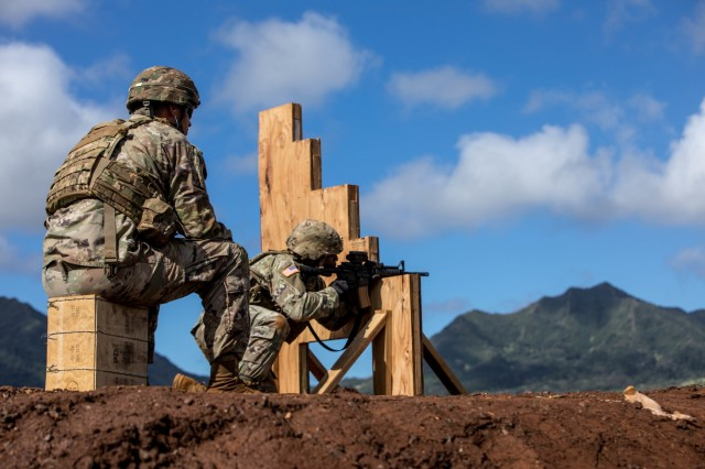 Soldiers across the 25th Infantry Division with varying skill levels prepared for the new marksmanship standards by conducting a pilot program to assess current installation support capabilities at Schofield Barracks, Hawaii. Soldiers will now incorporate the standing firing position into the marksmanship qualification as well as 8-10 second intervals to change magazines and positions, making qualification more combat oriented.