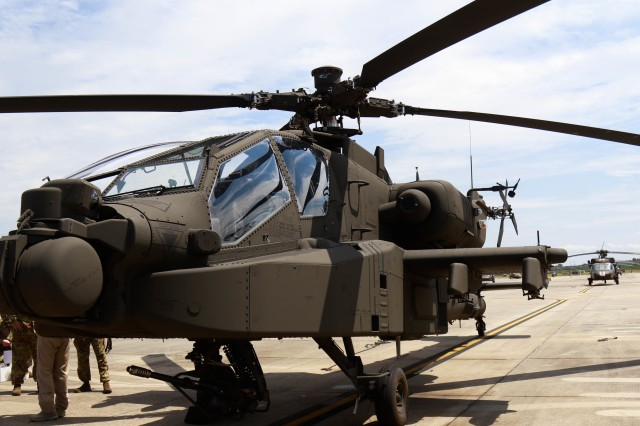 82nd Combat Aviation Brigade receives their initial fielding of the new Echo Model Apache.