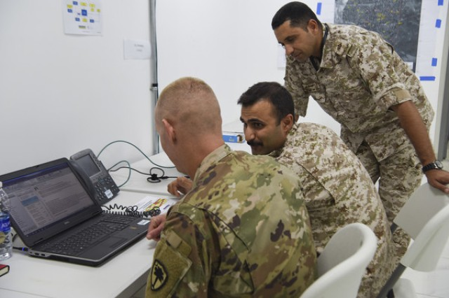 About 50 Soldiers with the South Carolina National Guard worked as the Combined Force Headquarters (CFHQ) in the Higher Control (HICON) in support of Eager Lion in Amman, Jordan, August and September 2019. About 50 Soldiers with the South Carolina National Guard worked as the Combined Force Headquarters (CFHQ) in the Higher Control (HICON) in support of Eager Lion in Amman, Jordan, August and September 2019. Eager Lion is a multilateral, scenario-based exercise with the Hashemite Kingdom of Jordan, designed to exchange military expertise and improve interoperability among partner nations.
