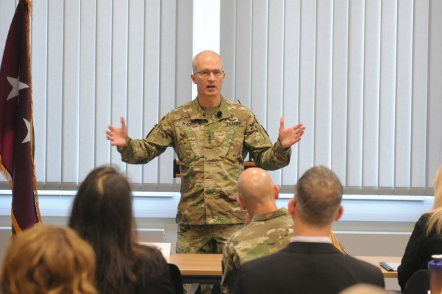 Lt. Gen. Ronald J. Place, the new Director of the Defense Health Agency, was the Keynote Speaker at the TRICARE Eurasia Africa Commanders and Stakeholders Meeting Sept 9-13. During his visit, he met with senior military leaders and Surgeons General from Unified Combatant Commands, and also toured the Stuttgart Army Health Clinic.