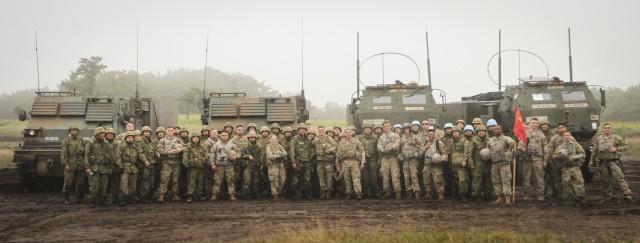 Bilateral Live Fire training between U.S. Army HIMARS and JGSDF MLRS