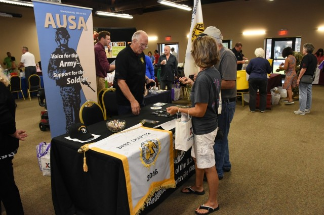 The 2017 Retiree Appreciation-Soldier for Life attendees participate in a vendor fair which will be among the event's activities again this year.