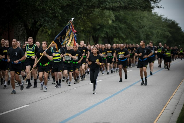 Thousands gathered Sept. 14 at Hilton Field to honor their Family members and Soldiers who have lost their lives during the War on Terror at the annual Fort Jackson Run for the Fallen. (U.S. Army photo by Saskia Gabriel)