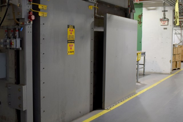 The 105mm X-Ray vault at Blue Grass Army Depot has added to surge capacity by efficiently and effectively identifying defective rounds for removal.