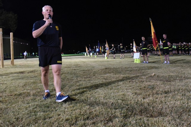 "Maj. Gen. John Evans, Jr., commanding general of U.S. Army Cadet Command and Fort Knox, encourages participants in this year's ""Walking for 7,623+,"" sexual assault awareness event to get actively involved in exposing and eradicating sexual assault within the ranks."
