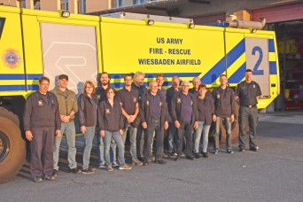Volunteer Fire Fighters visit USAG Wiesbaden Fire Department