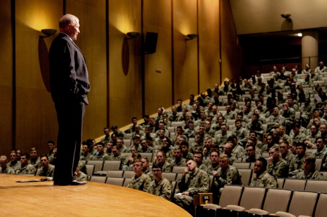 Former Chairman of the Joint Chief of Staff and retired Gen. Martin Dempsey visited the U.S. Military Academy on Friday as a guest speaker for the West Point Humanities Center's four annual Zengerle Family Lecture in Robinson Auditorium.