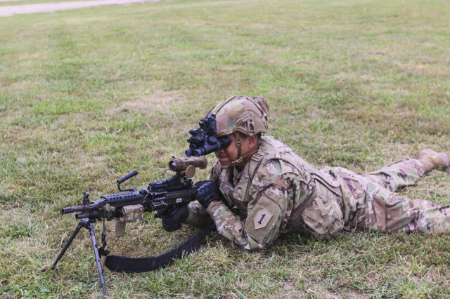 """Soldiers from the 2nd Armored Brigade Combat Team, 1st Infantry Division, are the first to receive the Enhanced Night Vision Goggle -- Binocular and the Family of Weapon Sights -- Individual. The """"Dagger"""" brigade received and fielded the new equipment Sept. 23 to 26. The ENVG-B and FWS-I give Soldiers the ability to see through fog, dust, and smoke. The devices increase the warfighters lethality, mobility, and situational awareness through innovative and state of the art capabilities."""