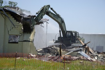 Georgia Army National Guard topples several Fort Benning structures to build up experience