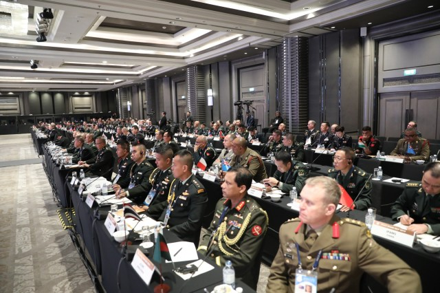 """Senior Army leaders from armies throughout the region attend the 43rd Indo-Pacific Armies Management Seminar hosted by the Royal Thai Army and U.S. Army held in Bangkok, Thailand, Sept. 9, 2019. IPAMS is an annual forum for senior level officers from the regional armies and security forces to meet, exchange views and discuss professional military subjects. This year's theme """"Achieving Sustainable Security: A New Perspective for Indo-Pacific Armies."""""""