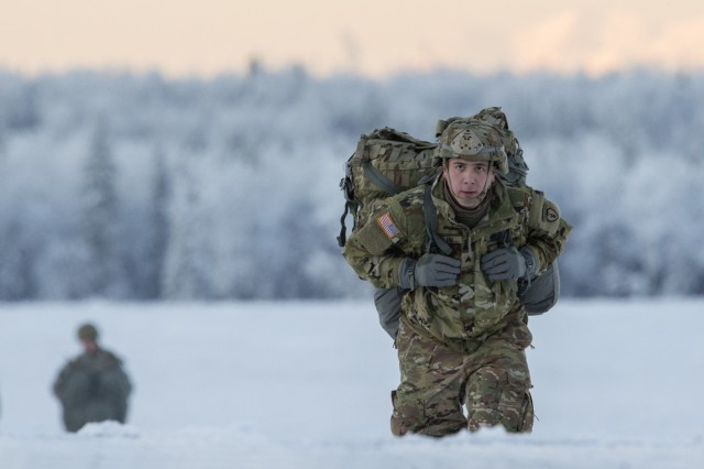 Sgt. Bruce Allen, assigned to the 4th Infantry Brigade Combat Team (Airborne), 25th Infantry Division, proceeds to the rally point after completing an airborne training jump at Joint Base Elmendorf-Richardson, Alaska, in January 2018. One of the reasons brass cartridge cases have remained in use for so long is their ability to withstand extreme temperatures, both hot and cold.