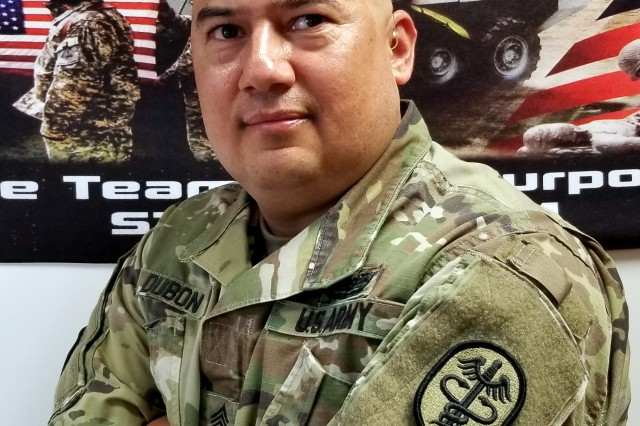 U.S. Army Master Sgt. Carlos Dubon, the Regional Health Command Europe Senior Career Counselor, poses for a picture Oct. 4.