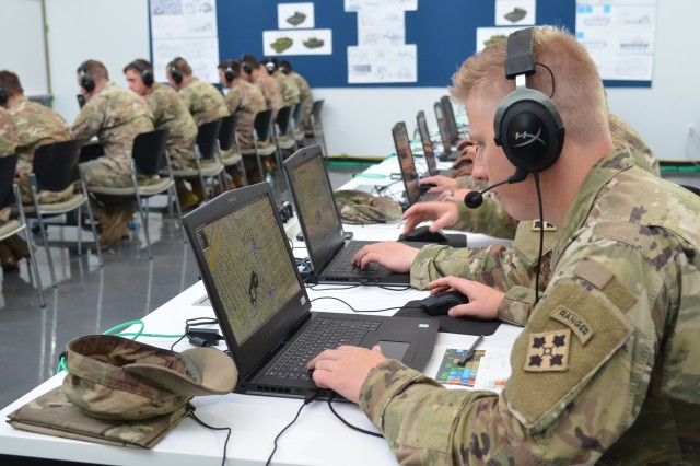 Soldiers from the 2nd Infantry Brigade Combat Team, 4th Infantry Division support the Army's Ground Vehicle Systems Center Virtual Experiment #3 last month to help inform the Next Generation Combat Vehicle Cross Functional Team's campaign of learning for Manned and Un-Manned Teaming.