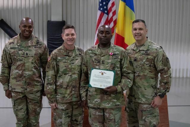 Mihail Kogalniceanu Air Base garrison change of responsibility ceremony