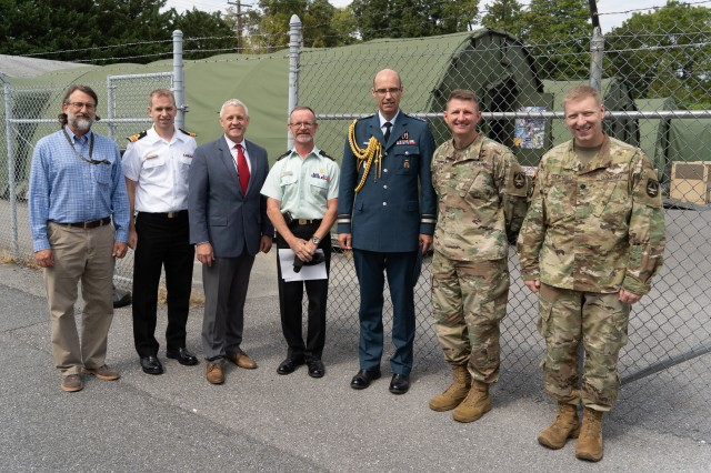 JPC-1 and TATRC leaders engage with Maj. Gen. Downes and Canadian senior leaders.