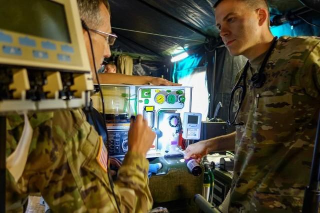 U.S. Army Europe veterinarians practice skills in austere evironments in Vet Strike