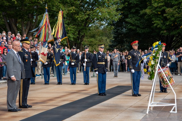 Standing after Wreath