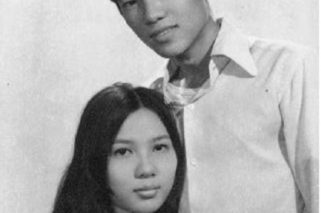 From left, Carolyn Vo Farmer's parents, Thu and and Son Vo. The South Vietnamese couple immigrated to the United States in 1978 with their two young daughters and only $20.