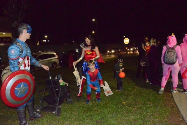 Vicenza - The Villaggio Housing area hosted the annual Halloween celebration Oct. 31, 2018. The event was well attended by a mixture of U.S. and Italian children who went from home to home collecting candy all along the way. (Photo by Laura Kreider, USAG Italy Public Affairs Office)