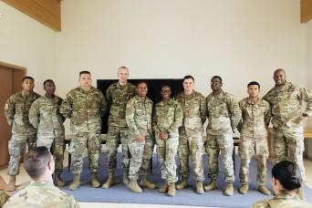 USAG Ansbach CSM motivates NCO Academy BLC class, shares philosophy