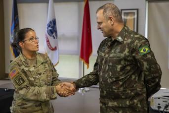 Brazilian three-star general visits New York National Guard