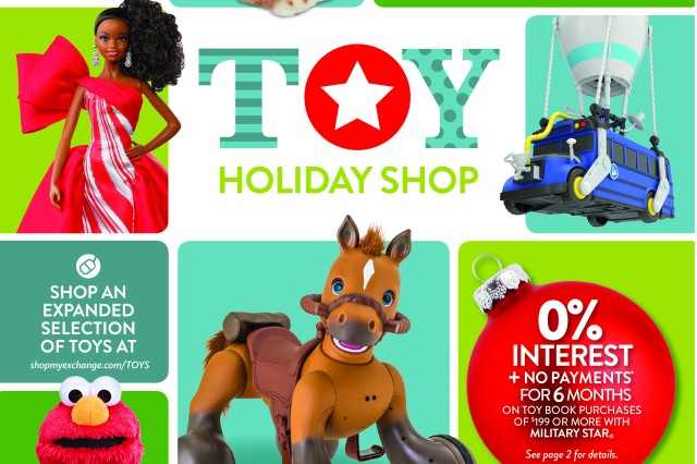 The holidays are just around the corner and so are the savings for military shoppers, thanks to the Army & Air Force Exchange Service's 2019 Toy Book, available starting Oct. 18.