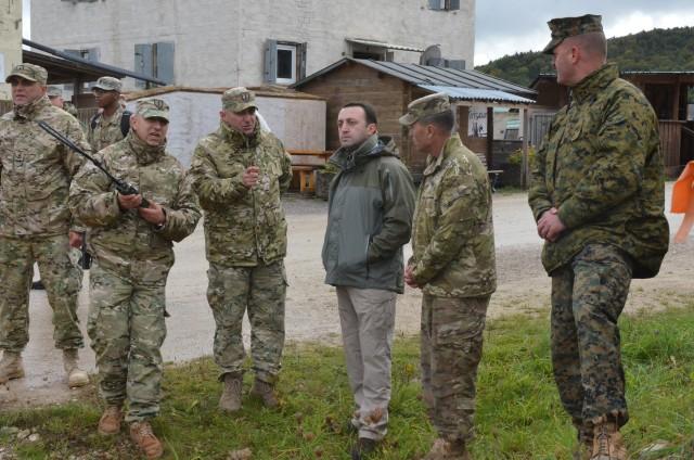Georgia's Minister of Defense visits JMRC