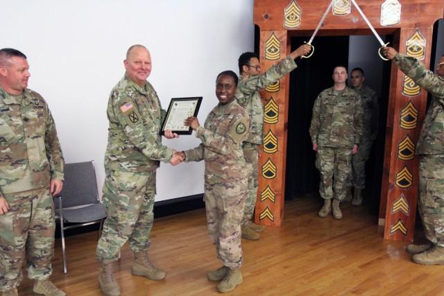 SGT Davis, 780 MI BDE NCO Induction ceremony