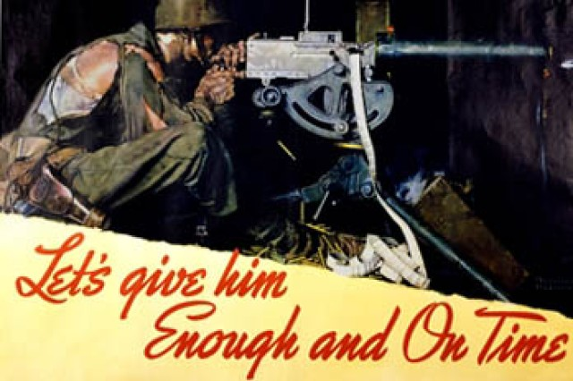 A 1942 Norman Rockwell poster encourages civilians on the home front to contribute what they can to the war effort.