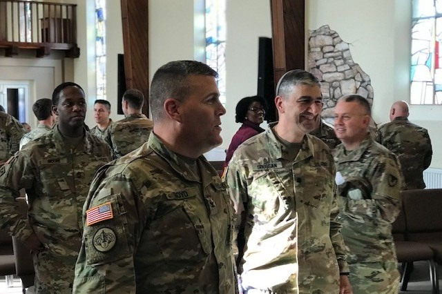 The grand reopening of the Tower Barracks Chapel, Bldg. 621, located on the corner across from the USO building, was held today, Oct. 16.