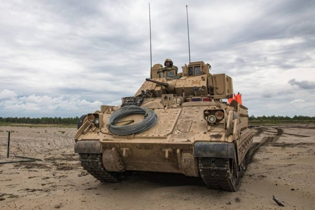 The Army's ManTech program, which is managed by CCDC, developed a cold spray process to repair costly turret gun mounts on the Army's M2 Bradley Fighting Vehicle