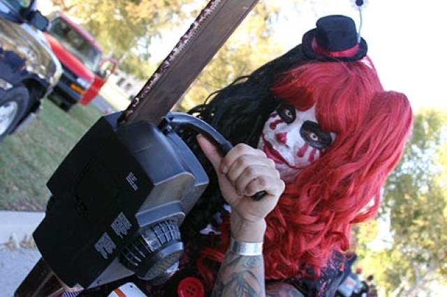 Tiffany Bjorklund ran the race as a killer clown.