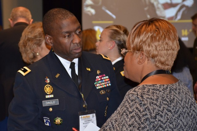 Lt. Gen. R. Scott Dingle, The Surgeon General, fielded questions as subject matter expert on Army Health Care at the Association of the United States Army 2019 Annual Meeting and Exposition on Oct. 15, 2019.  On behalf of the senior leaders, Dingle responded to questions regarding TRICARE, behavioral health care for children of Army families, change in administrative management of Army healthcare facilities to the Defense Health Agency, and access to pain management medicine and care.  Dingle made it clear that concerns were being listened to.