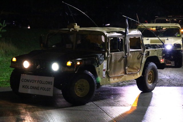 U.S. Army Soldiers with the 2nd Armored Brigade Combat Team, 1st Cavalry Division, from Fort Hood, Texas, conduct a convoy on their way to Poland in support of Operation Atlantic Resolve, Oct. 16, 2019, Magdeburg, Germany. The convoy began in Vlissingen, Netherlands, and will continue until they reach Poland where they will begin a nine-month rotation. (U.S. Army photo by Spc. Joseph Knoch)