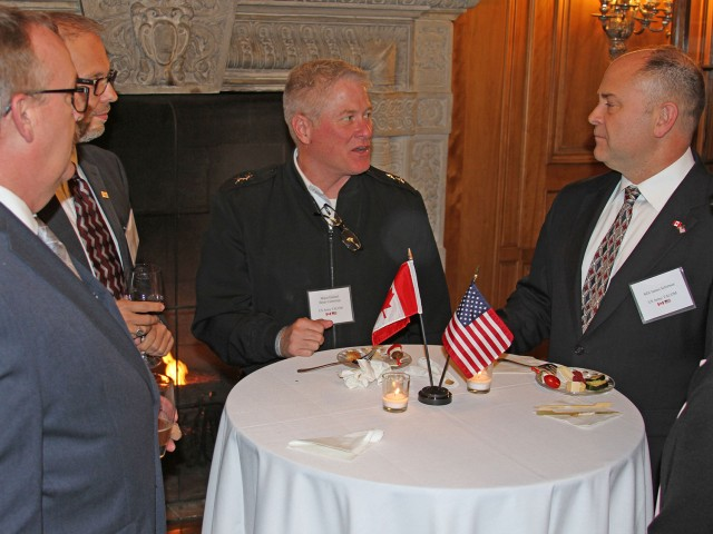 Maj. Gen. Brian Cummings chats with guests during Canadian Consul's reception