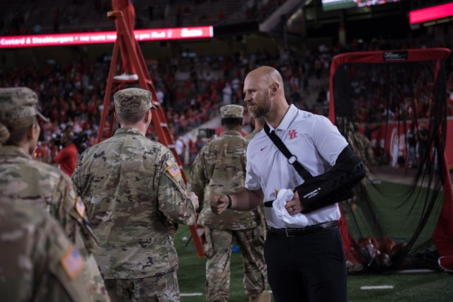 Soldiers re-dedicate themselves to nation during Veterans Appreciation game