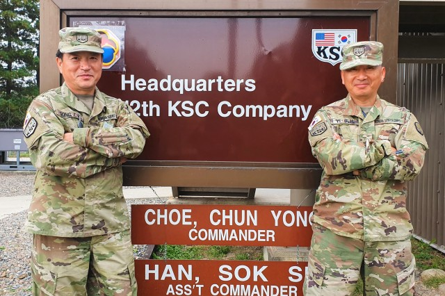 Mr. Song, Tae Hyon and Mr. Yi, Chong Hyong, both members of the 12th Korea Service Corps Co. saved the life of a Korean civilian bus driver near Paju, Republic of Korea Oct. 8, 2019.