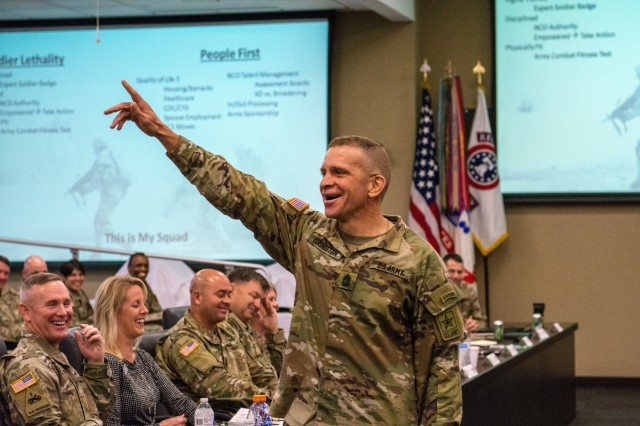 Sergeant Major of teh Army speaks at USAREC ALTC