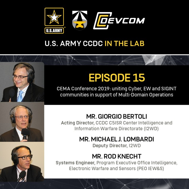 CEMA conference brings together cyber, EW and SIGINT, on 'CCDC in the Lab' podcast