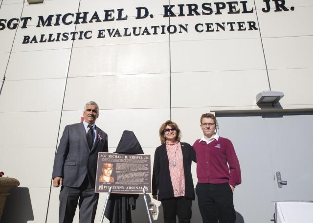 Picatinny Arsenal dedicates ballistic evaluation center to fallen local Soldier